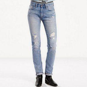 Levi's 505C Straight Leg Patchwork Distressed Jean